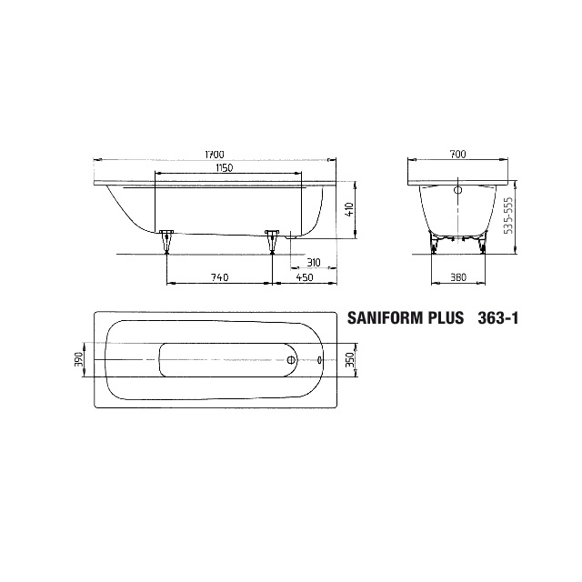 BW SANIFORM PLUS 363-1, 1700x700x410